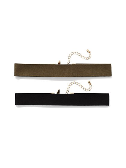 Faux-Suede Choker Set  - New York & Company