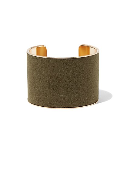 Faux-Suede Cuff Bracelet  - New York & Company