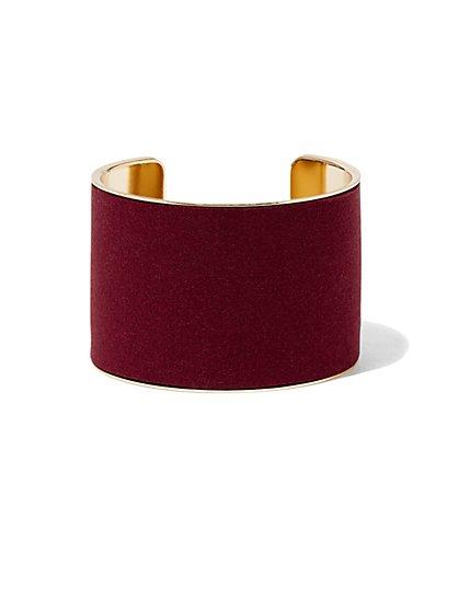 Faux-Suede Cuff Bracelet  - New York & Company