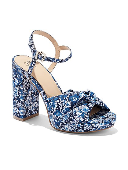 Faux-Suede Platform Sandal  - New York & Company