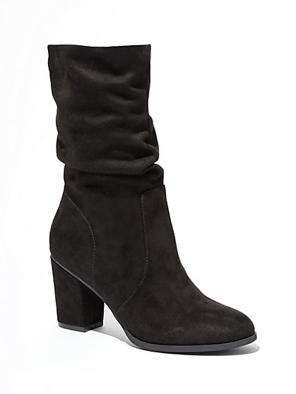 Faux-Suede Scrunch Boot  - New York & Company