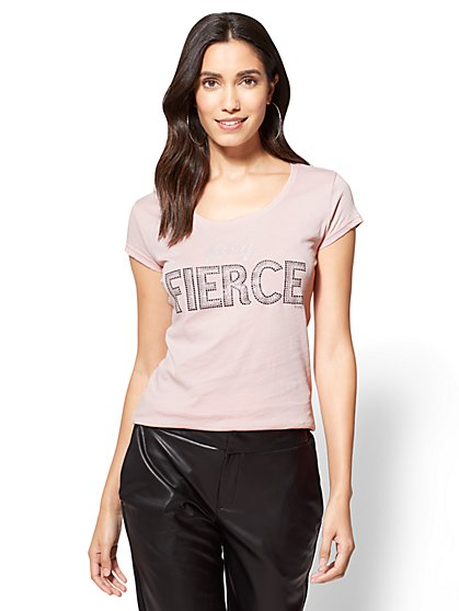Feeling Fierce Logo Tee - New York & Company