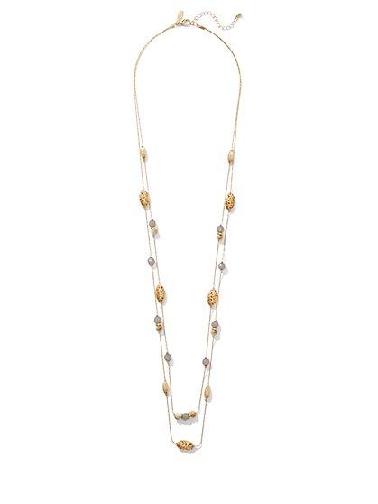 Filigree Illusion Necklace  - New York & Company