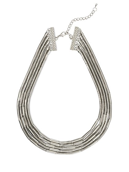 Five-Row Coil Necklace  - New York & Company