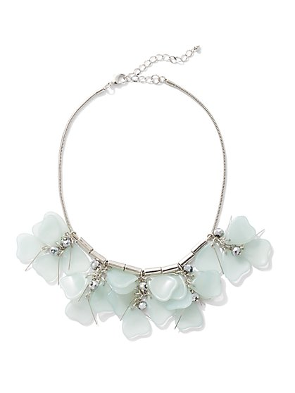 Floral-Accent Statement Necklace - New York & Company