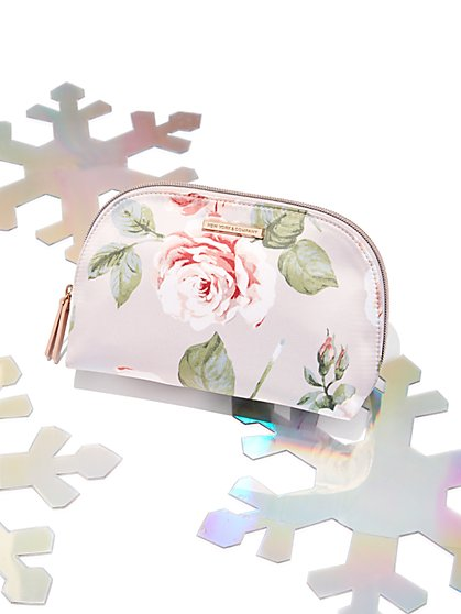 Floral Cosmetic Case - New York & Company