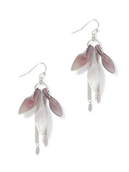 Floral & Fringe Drop Earring  - New York & Company