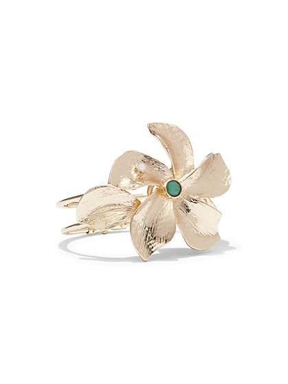 Floral Hinge Cuff Bracelet  - New York & Company