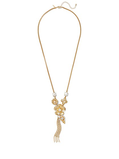 Floral Pendant Necklace  - New York & Company
