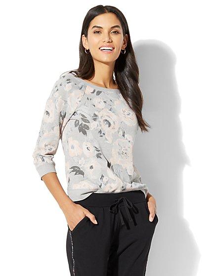 Floral-Print Sweatshirt - New York & Company