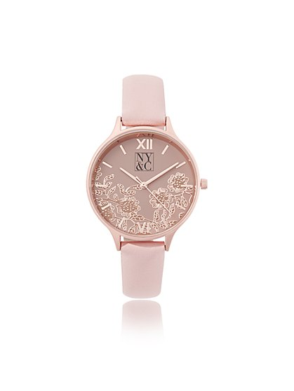 Floral Roman-Numeral Watch - New York & Company