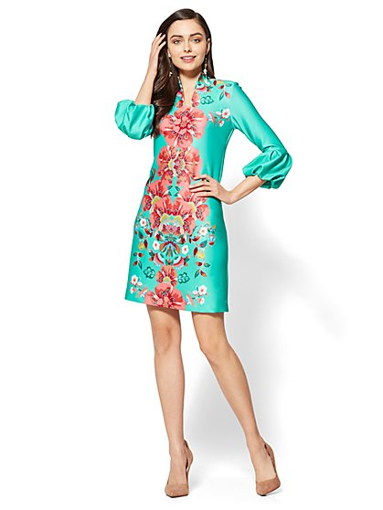 Floral Shift Dress - New York & Company