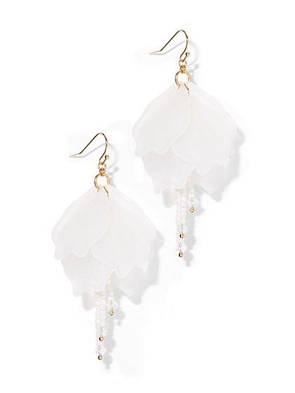 Floral Statement Drop Earring  - New York & Company