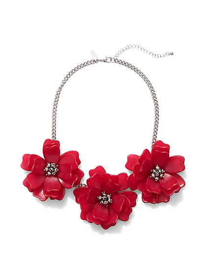 Floral Statement Necklace  - New York & Company