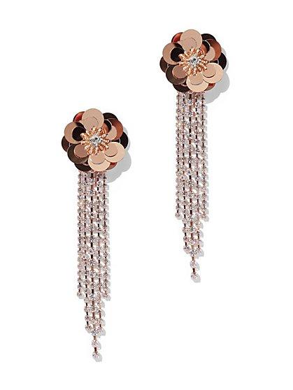Floral Tassel Drop Earring - New York & Company