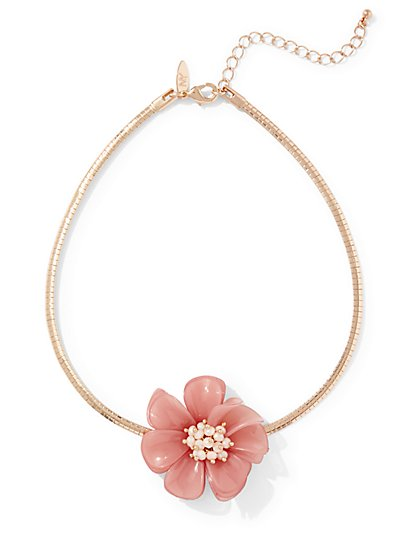 Flower Choker Necklace  - New York & Company