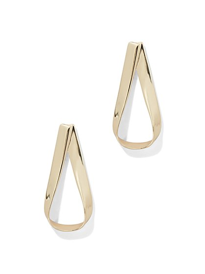 Foldover Hoop Drop Earring  - New York & Company