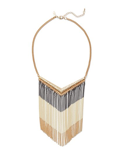 Fringe Bib Necklace  - New York & Company