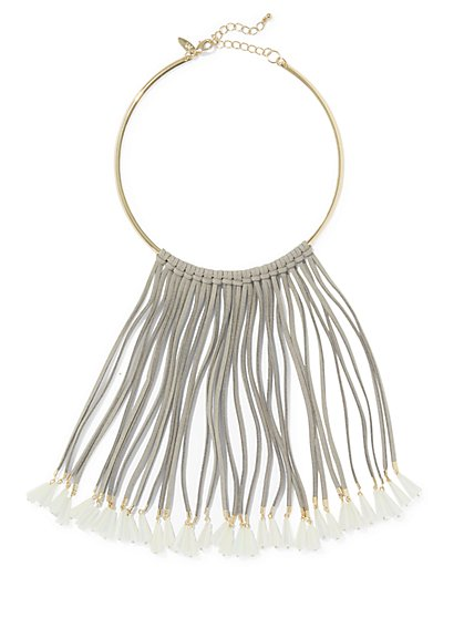 Fringe Collar Statement Necklace  - New York & Company