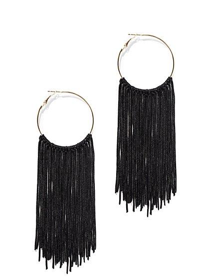 Fringed Hoop Earring - New York & Company