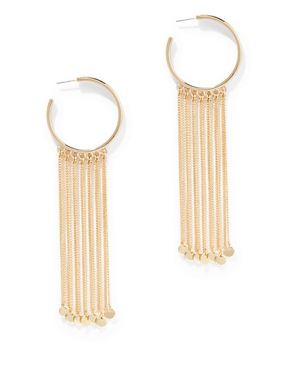 Fringed Hoop Earring - New York & Company
