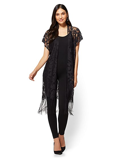 Fringed Lace Duster - New York & Company