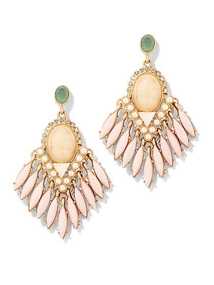 Fringed Stone Earring - New York & Company