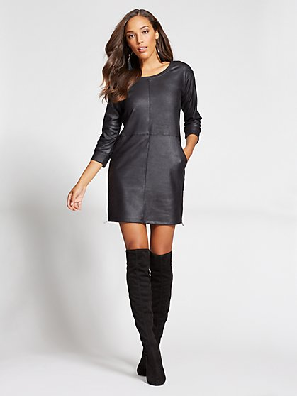 Gabrielle Union Collection - Coated Shift Dress - New York & Company