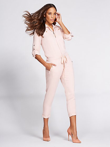 Gabrielle Union Collection - Denim Jumpsuit - Blush  - New York & Company