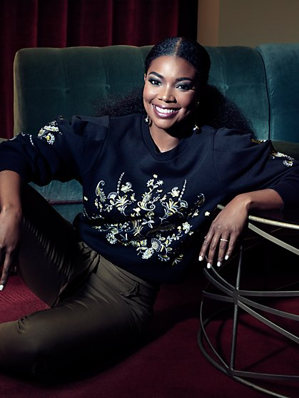 Gabrielle Union Collection - Embroidered Sweatshirt  - New York & Company