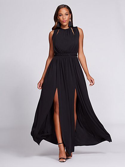 Gabrielle Union Collection - Halter Maxi Dress - Black - New York & Company