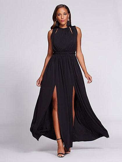 Gabrielle Union Collection - Halter Maxi Dress - Black - New York & Company