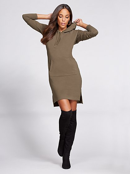 Gabrielle Union Collection - Hooded Sweatshirt Dress  - New York & Company