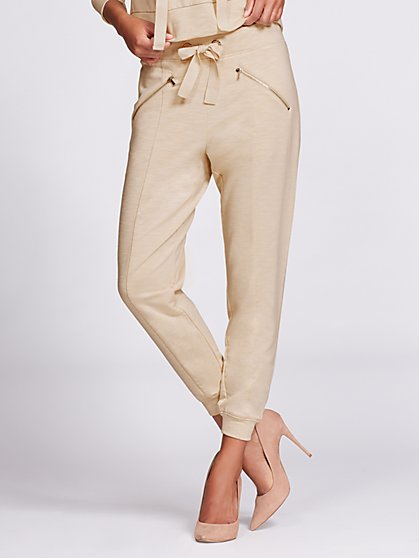 Gabrielle Union Collection - Jogger Pant - Beige - New York & Company