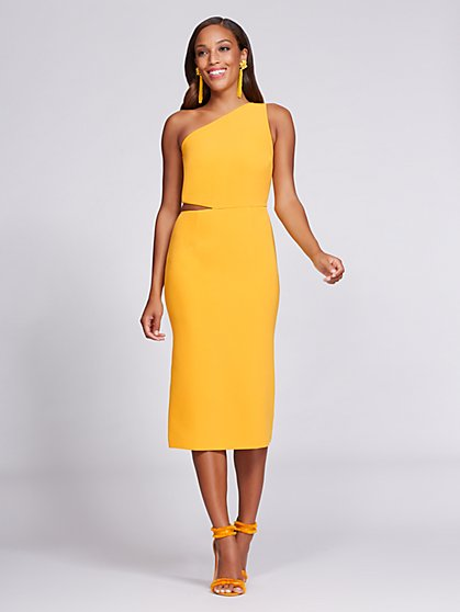 Gabrielle Union Collection - One-Shoulder Sheath Dress - Mango - New York & Company