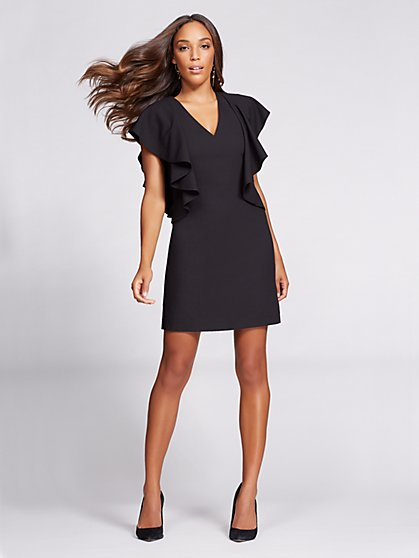 Gabrielle Union Collection - Ruffle-Sleeve Shift Dress  - New York & Company