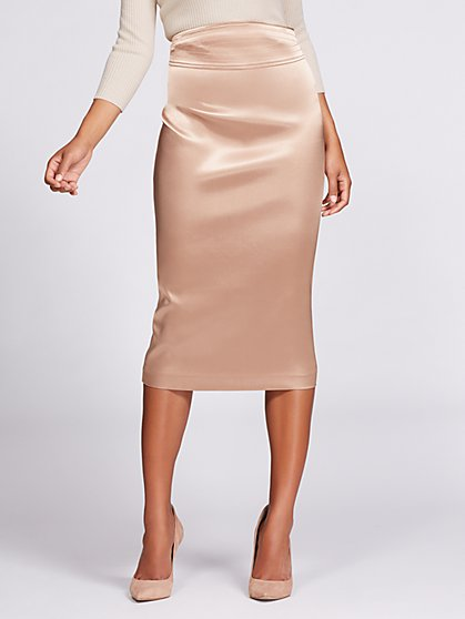 Gabrielle Union Collection - Sateen Pencil Skirt - New York & Company