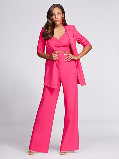 Gabrielle Union Collection - Two-Button Blazer - Hot Pink - New York & Company