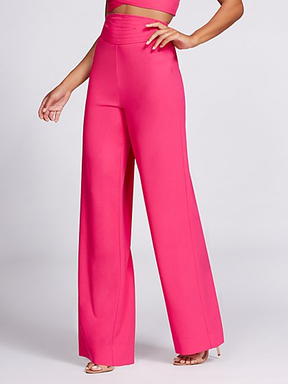 Gabrielle Union Collection - Wide-Leg Pant - Hot Pink - New York & Company