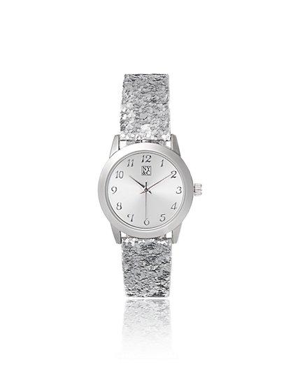 Glitter Band Watch - New York & Company