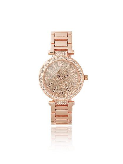 Glitter-Finish Boyfriend Watch - New York & Company