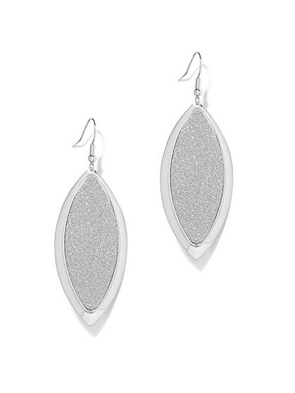 Glitter-Finish Teardrop Earring  - New York & Company
