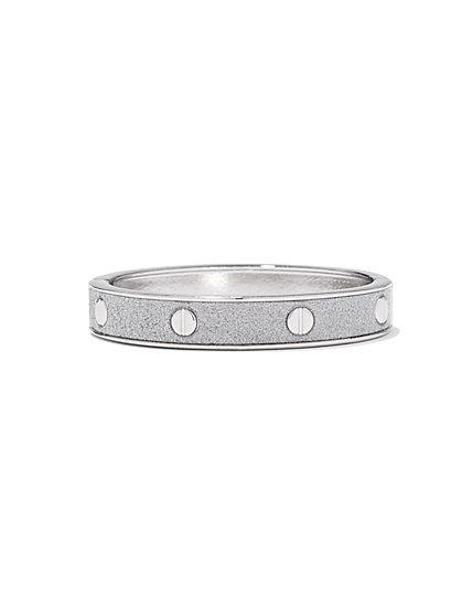 Glitter Rose Goldtone Bangle Bracelet - New York & Company