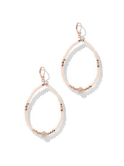 Glittering Beaded Teardrop Earring - New York & Company