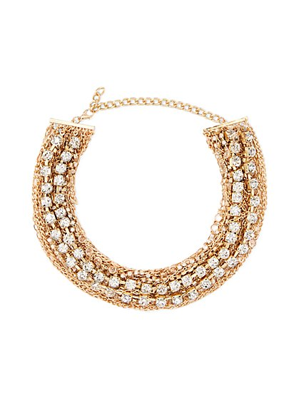 Glittering Chain-Link Collar Necklace - New York & Company