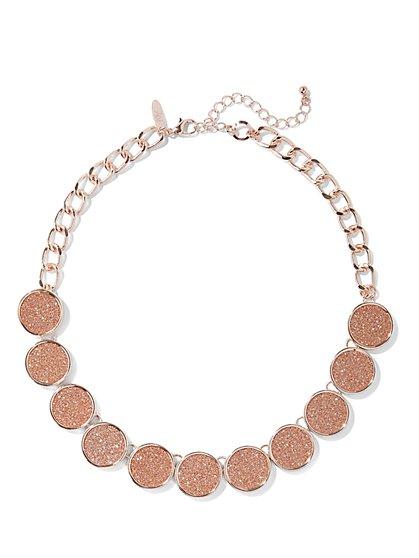 Glittering Circle Collar Necklace  - New York & Company