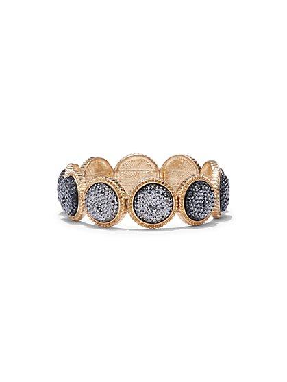 Glittering Circular Stretch Bracelet  - New York & Company