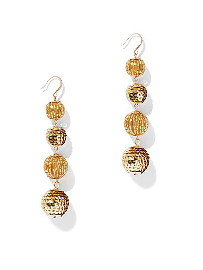Glittering Goldtone Pave Drop - New York & Company