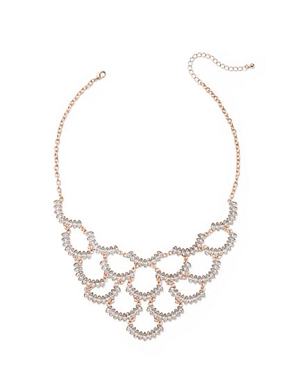 Glittering Marquise Bib Necklace - New York & Company