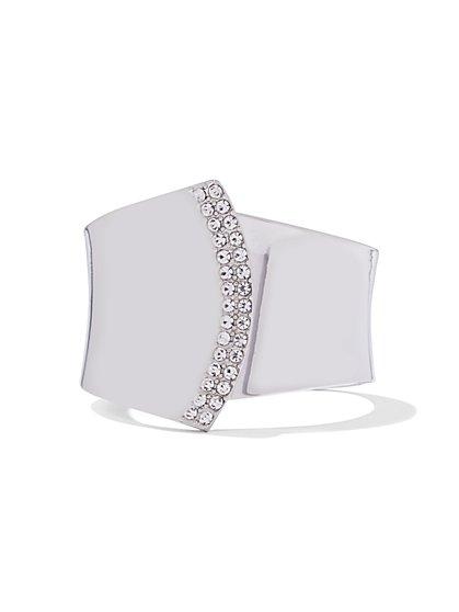 Glittering Pave Cuff Bracelet - New York & Company